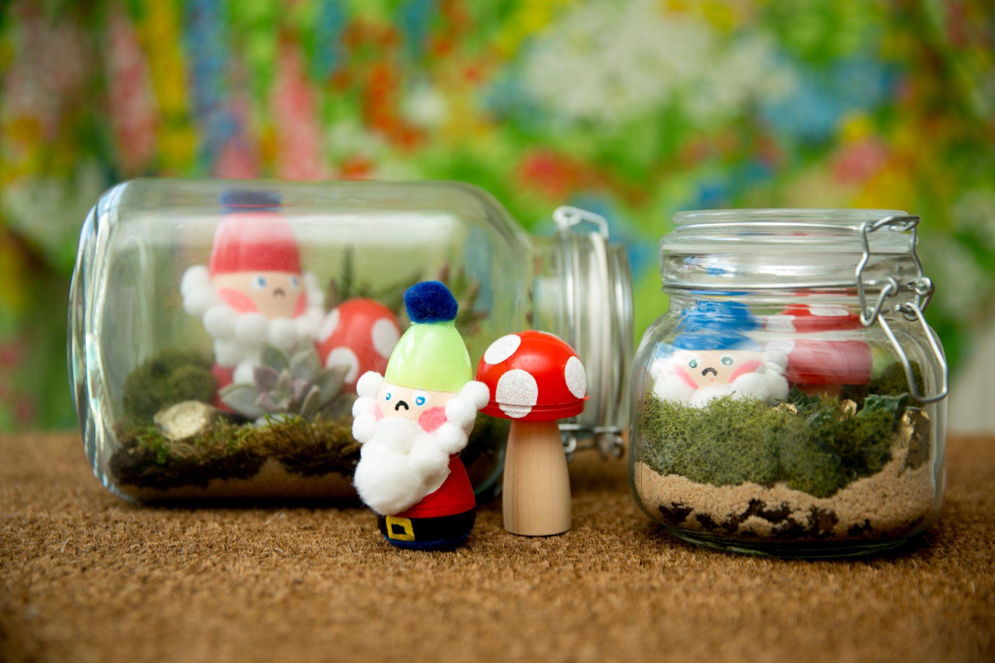 Diy Gnome Terrarium With Plastic Easter Eggs