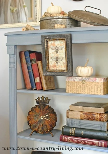 simple living room decorating photos pictures of rooms with corner fireplace chalk paint bookcase makeover - jennifer rizzo