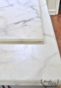 How to paint faux marble on a table top - Jennifer Rizzo