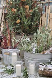 Winter holiday outdoor deck-orating - Jennifer Rizzo