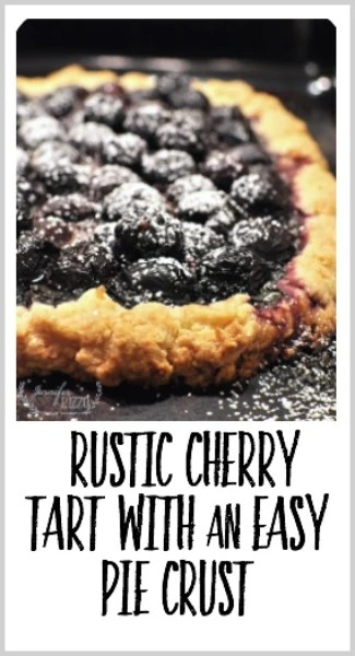 Amazing rustic cherry tart with flaky pie crust recipe. So fast to make and tastes amazing!