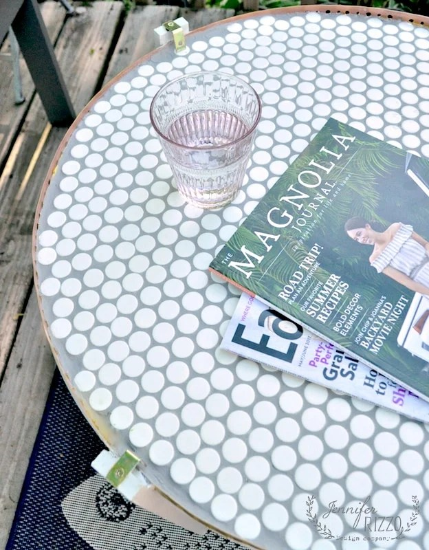 a diy penny tile table top jennifer rizzo
