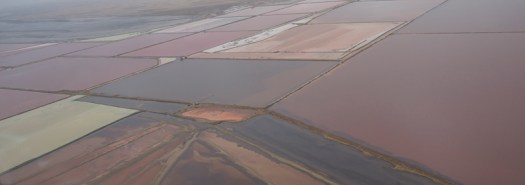 Flying over one of the areas of salt production on Namibia's coastline. April 2015. 1/800sec, f10, ISO 320