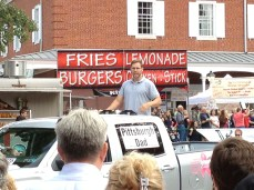 I was really excited to see Pittsburgh Dad in the Fort Ligonier Days parade! (Photo by Jennifer Sopko)