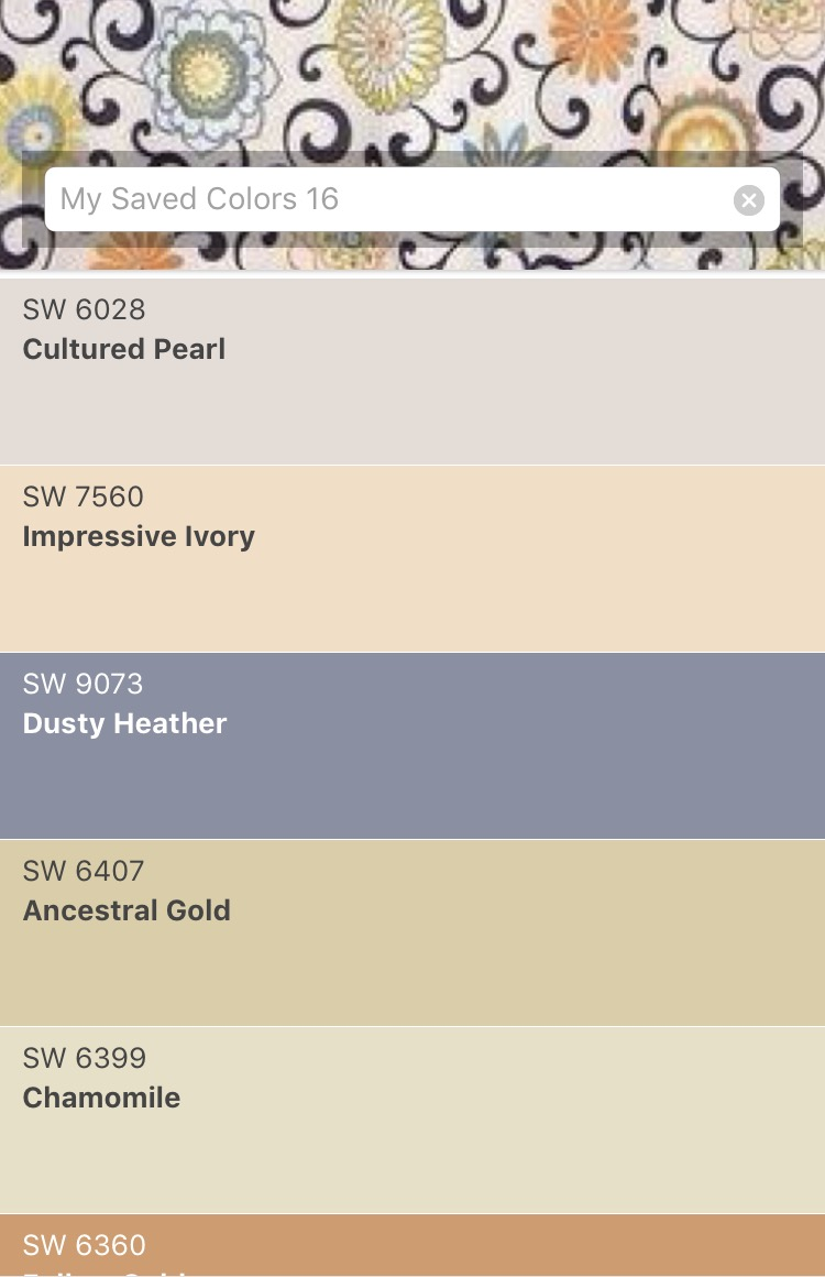 Sherwin-williams color pallet