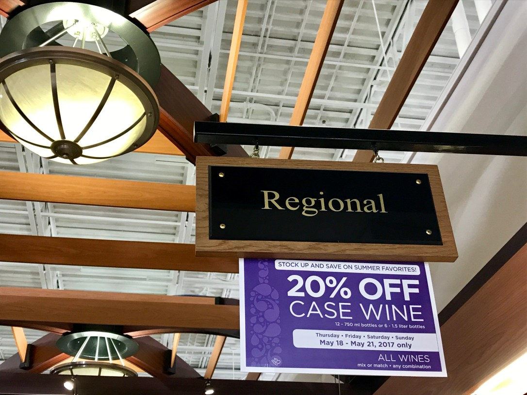 regional wine sign