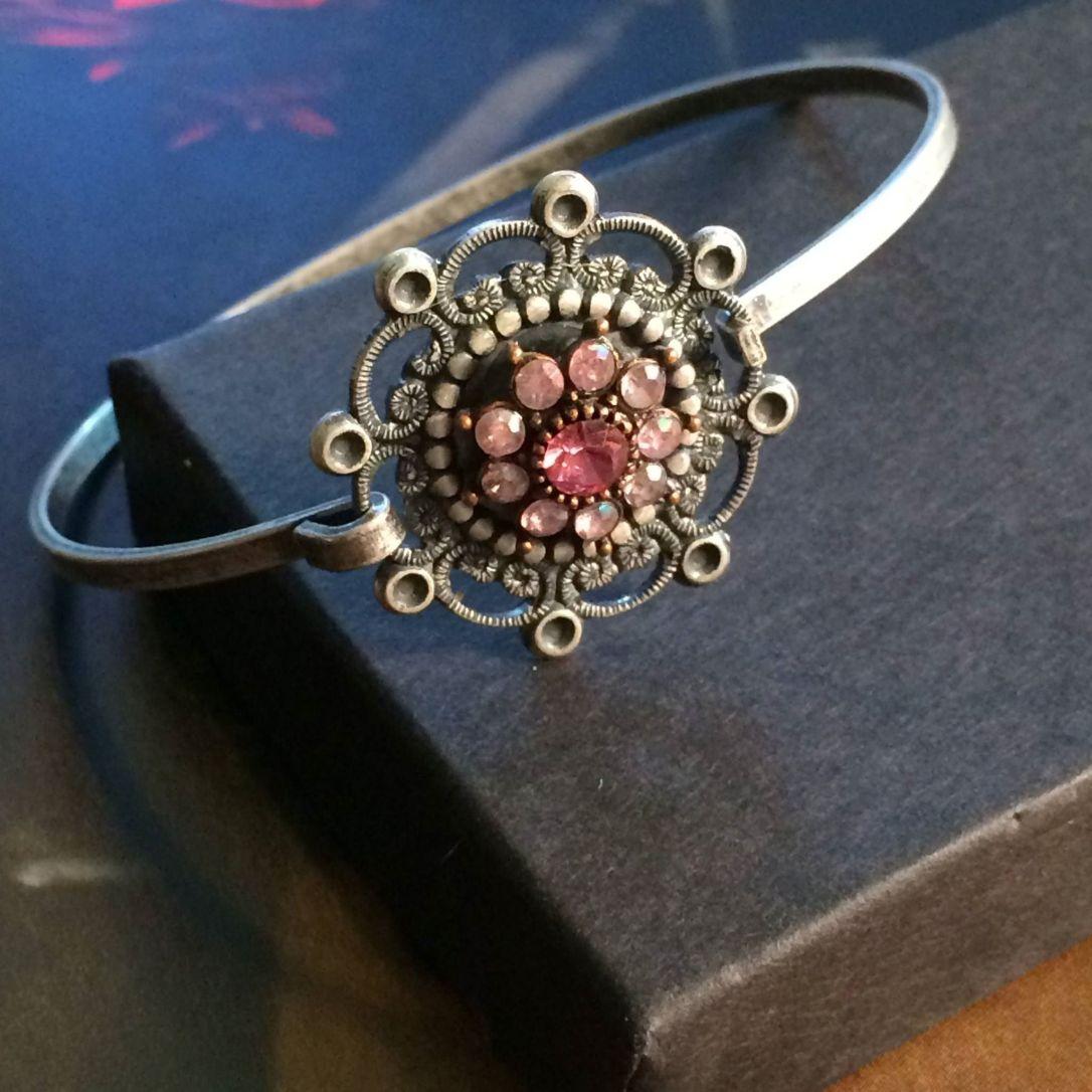 Vintage Key jeweled bracelet