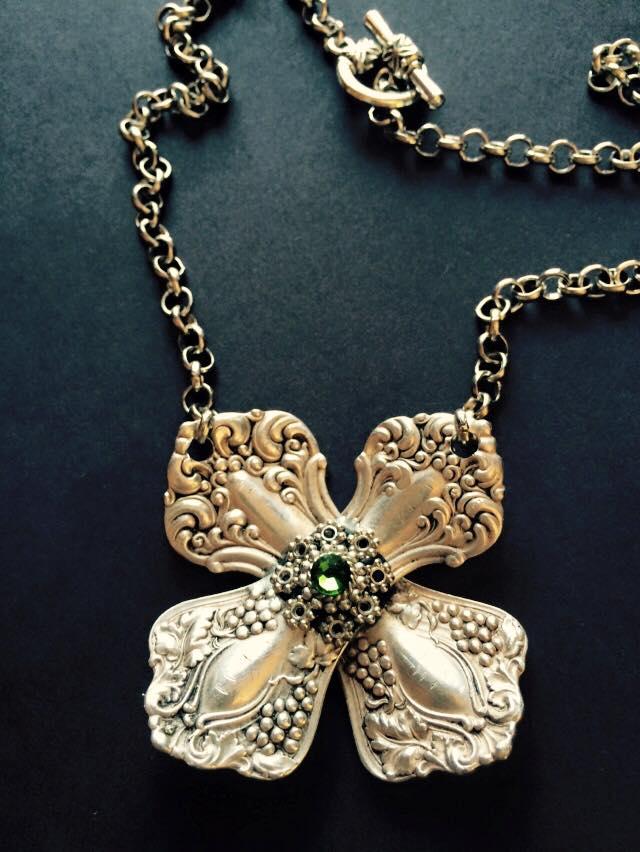 Vintage Key spoonhandle necklace