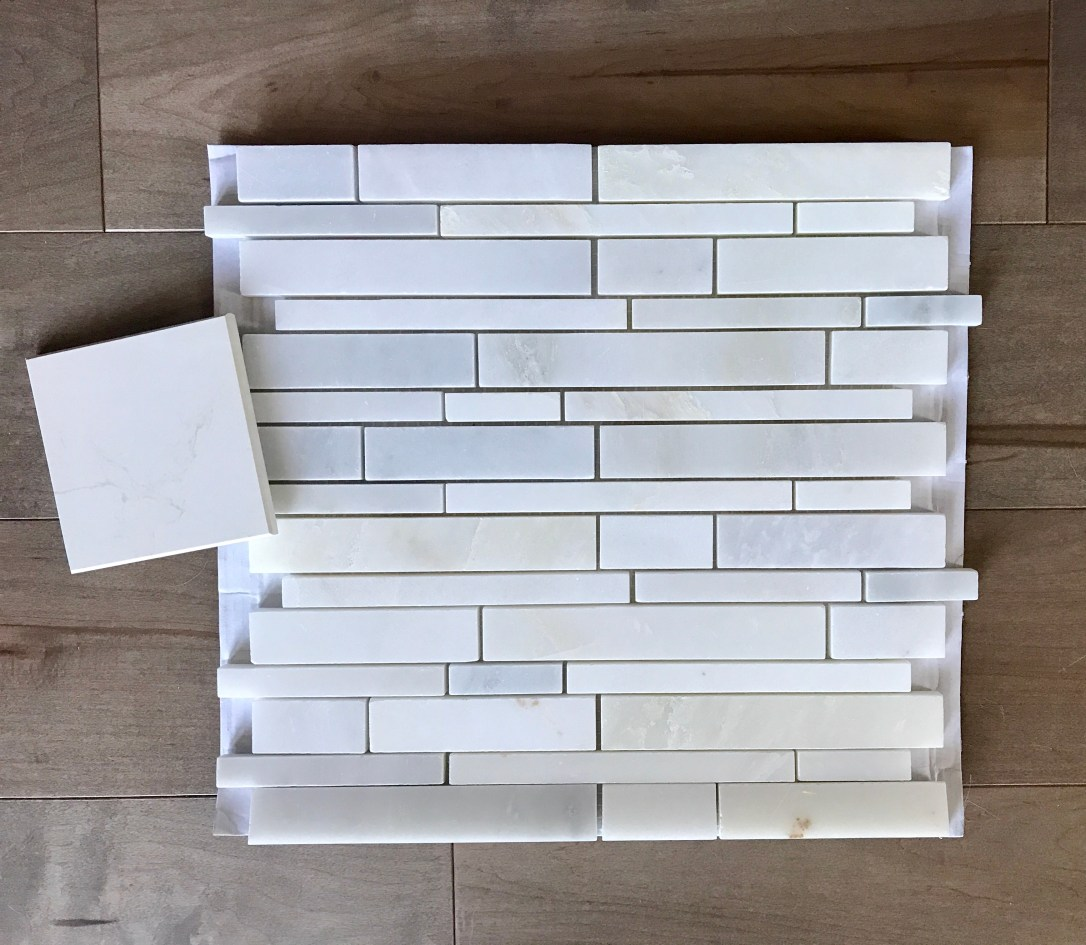 backsplash and countertop samples