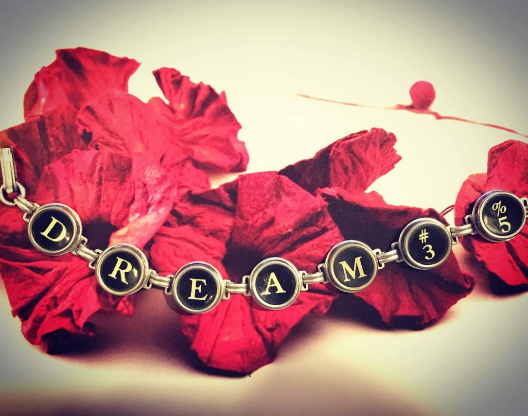vintage key dream bracelet