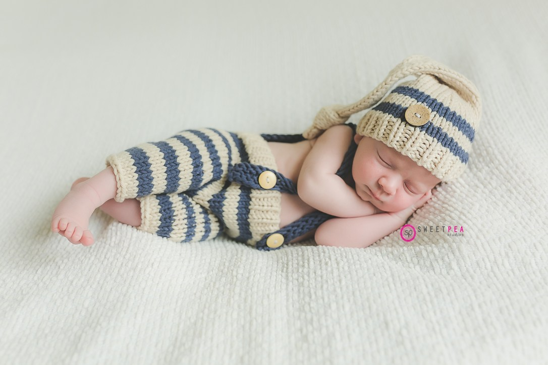 Sweet Pea baby in stripes