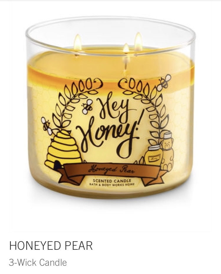 honeyed pear candle