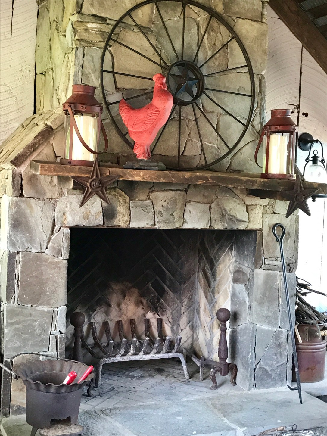 Beyond the Barn Doors fireplace