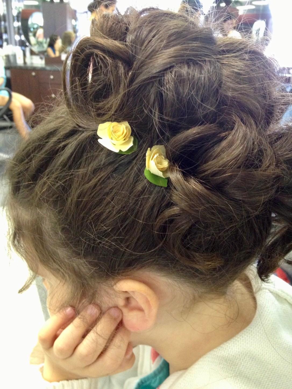 Caroline's hair Cristina's wedding