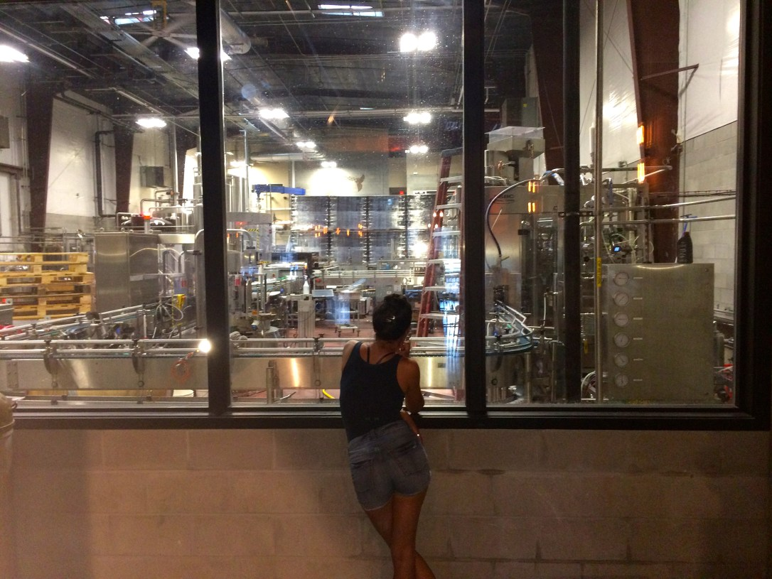Denise at distillery