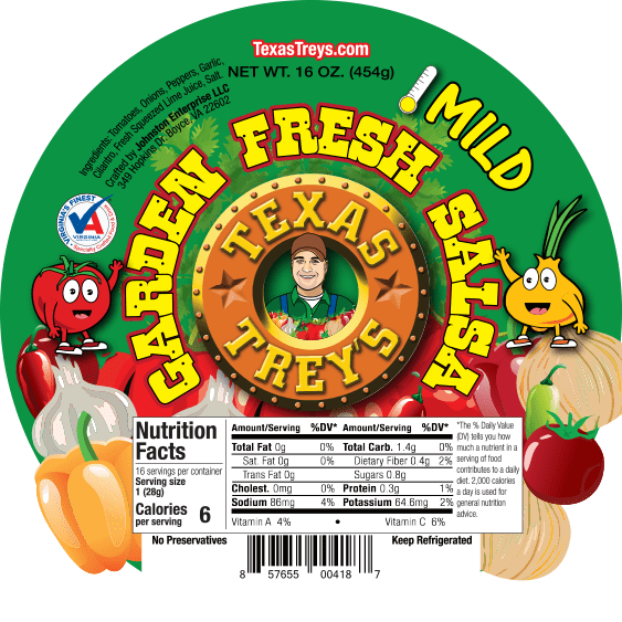 TT Garden Fresh Label Round