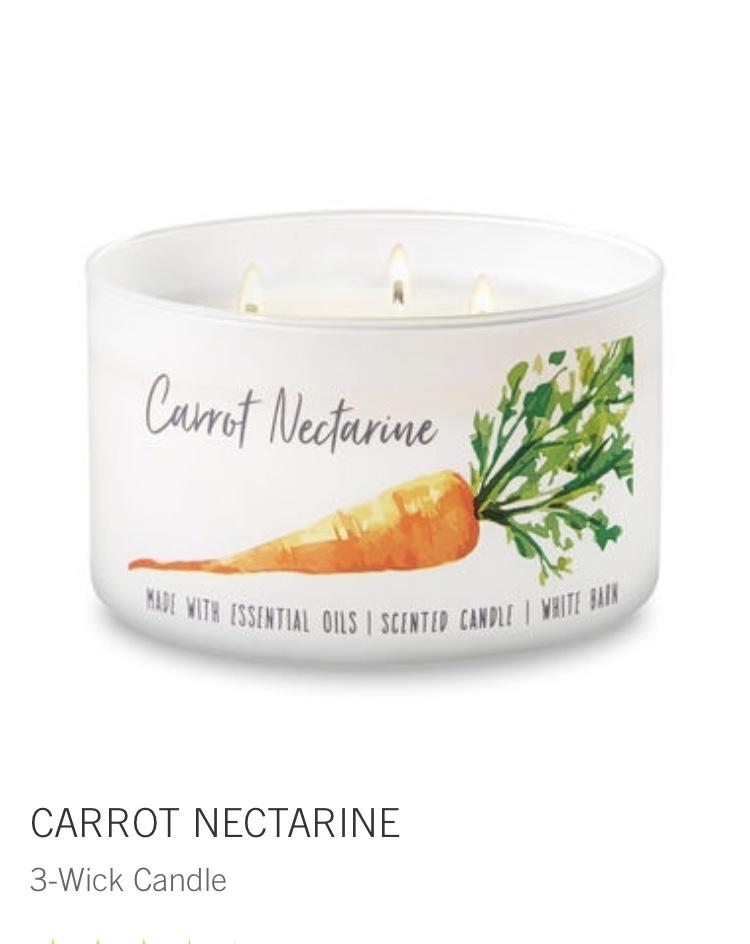 bath and body - carrot nectarine