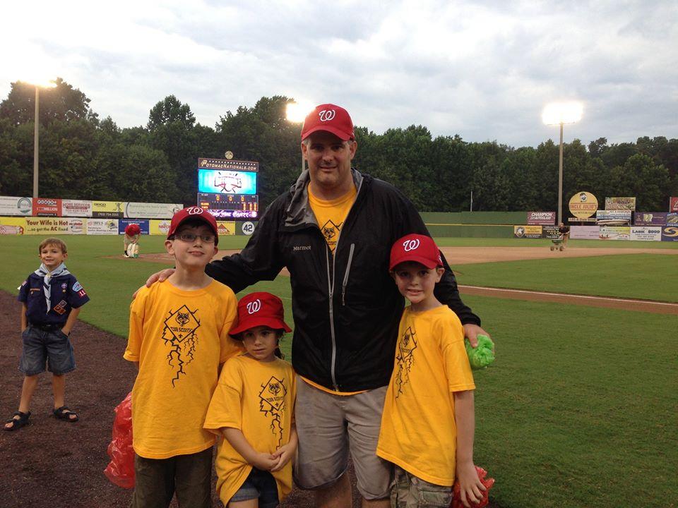 Chris and Kids baseball