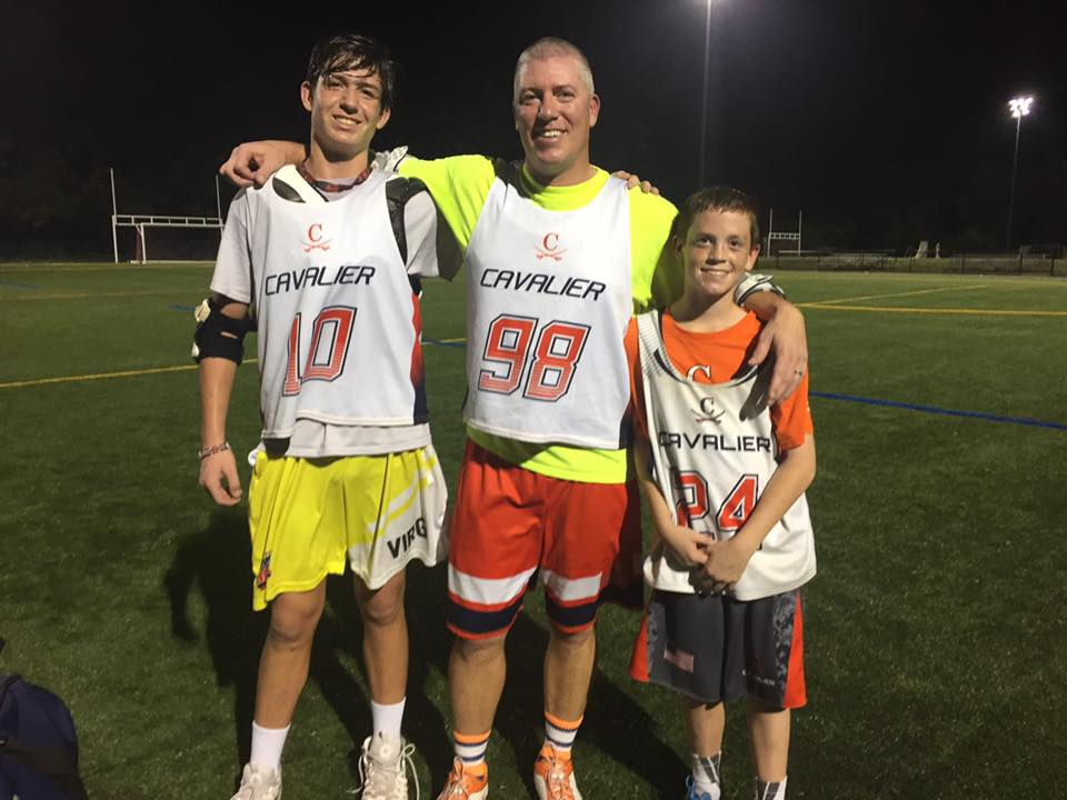 Marty and boys - laxing with my boys
