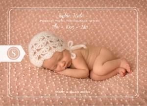 Custom Classic Birth Announcements | Central Virginia Baby Photographer