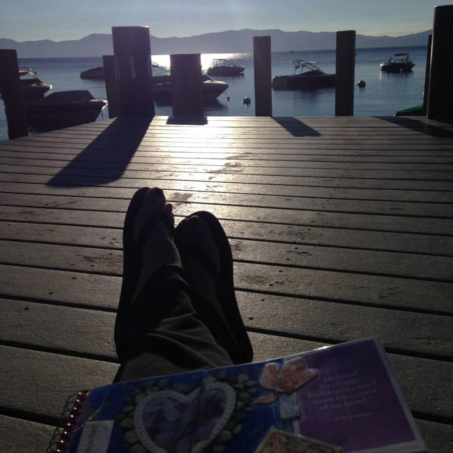 moments on Lake Tahoe dock