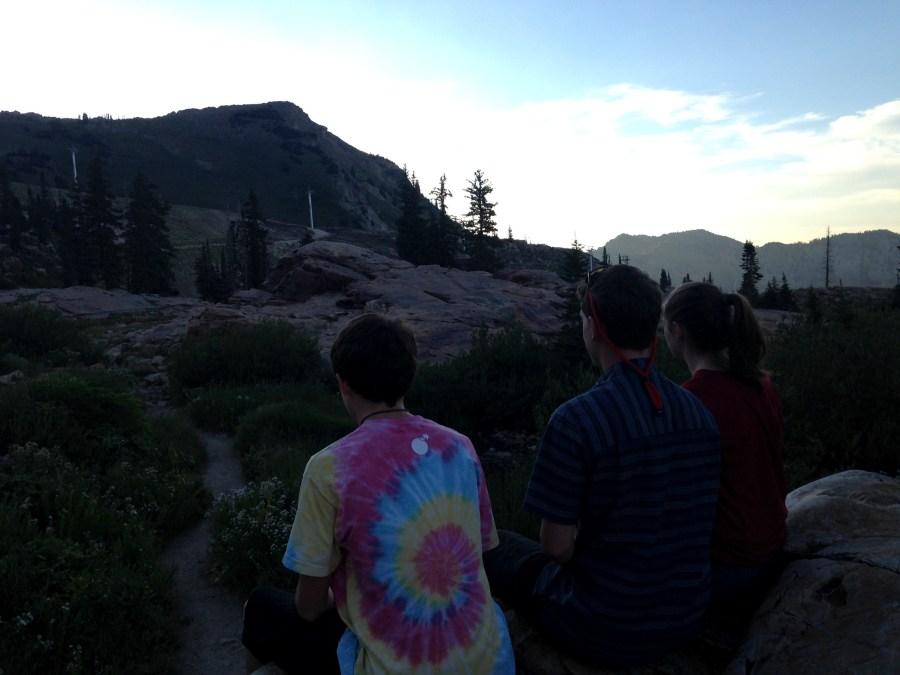 kids at Alta, Utah