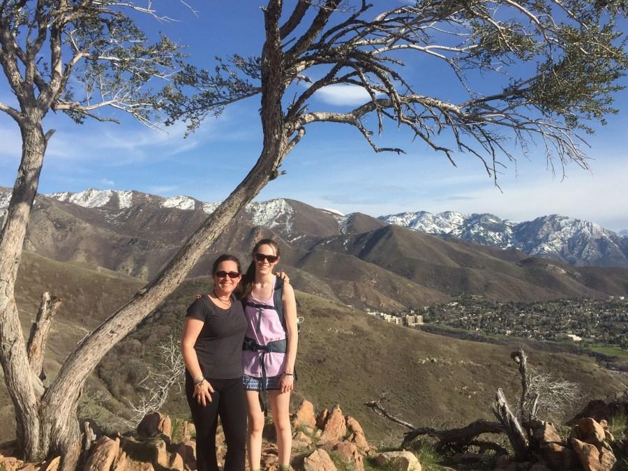 Salt Lake City hike, half-way up.