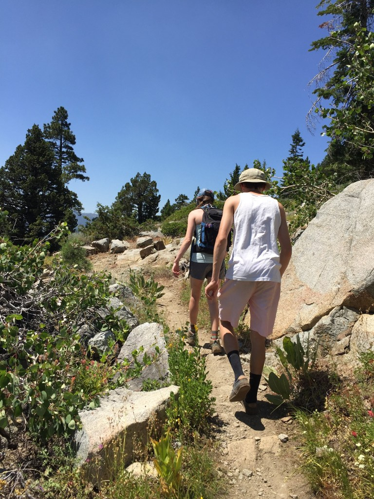 Hiking to Five Lakes, Alpine Meadows, CA