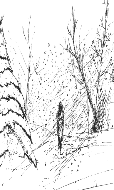 Snow Storm Sketch from The Adventure Book