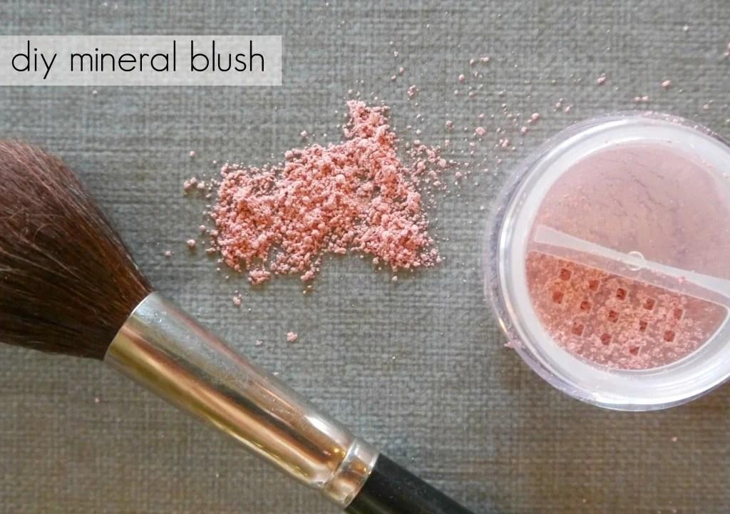 Mineral make up blush
