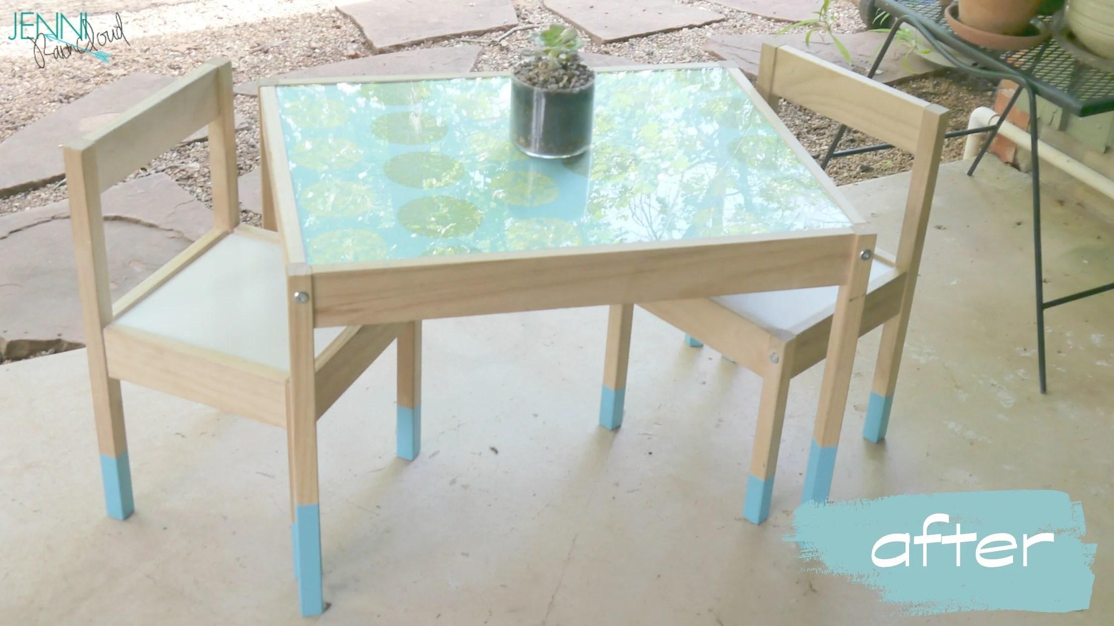 paint dipped children 39 s table easy ikea hack jenni raincloud. Black Bedroom Furniture Sets. Home Design Ideas