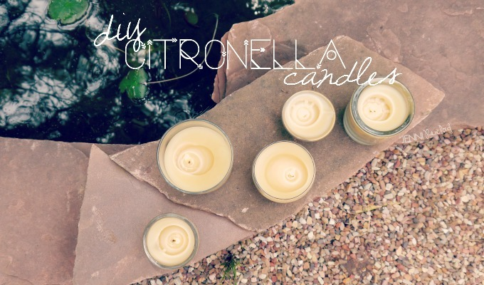 DIY Citronella Beeswax Candles