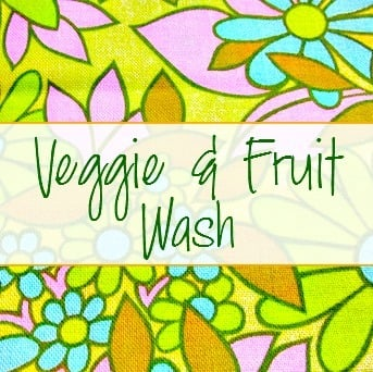 Veggie and Fruit DIY Wash