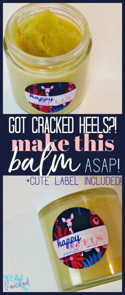 DIY Cracked Heels Balm