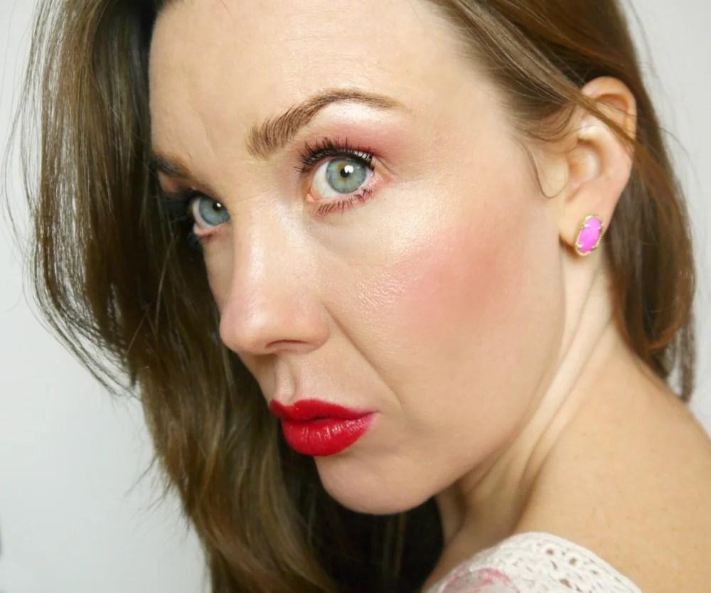 100% Pure Red Lip Makeup Tutorial