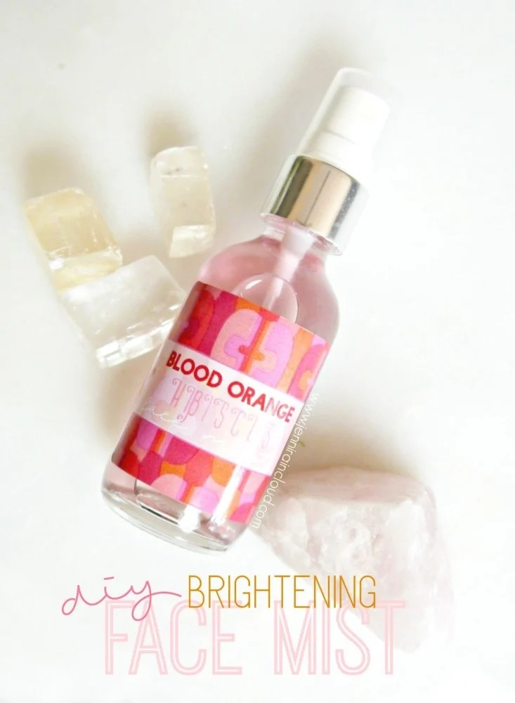 DIY Brightening Face Mist