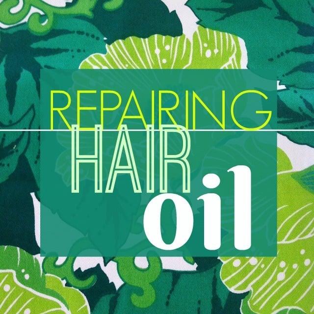Repairing Hair Oil Label