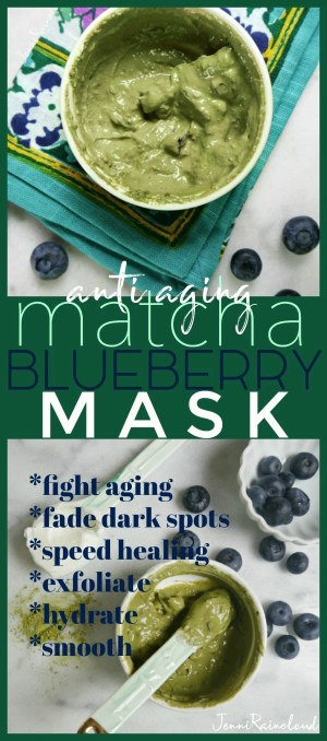 Matcha Blueberry DIY Mask