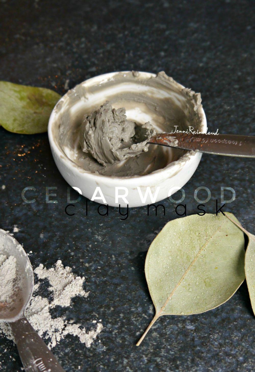 DIY Cedarwood Clay Mask for Men