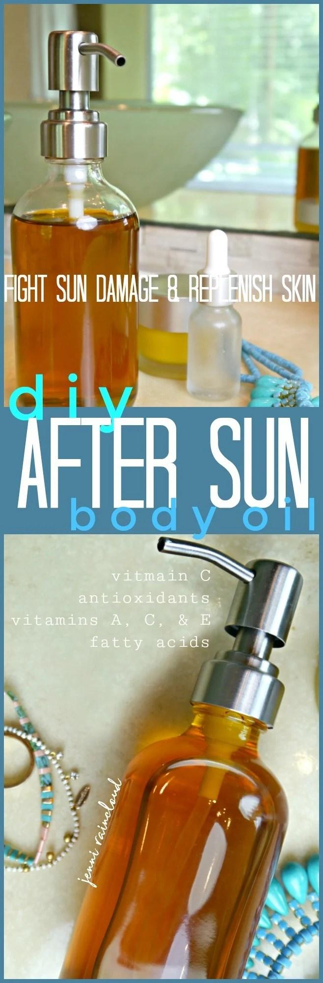 DIY After Sun Body Oil
