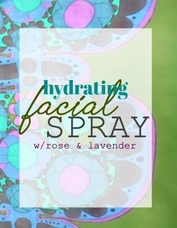 Facial Spray label copy