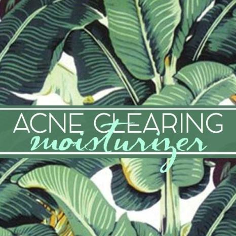 acne clearing moisturizer