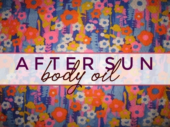 after sun body oil label