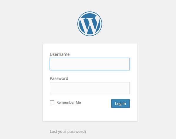 The typical WordPress login screen