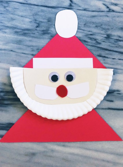 CHRISTMAS CRAFTING: Paper Plate Santa Claus