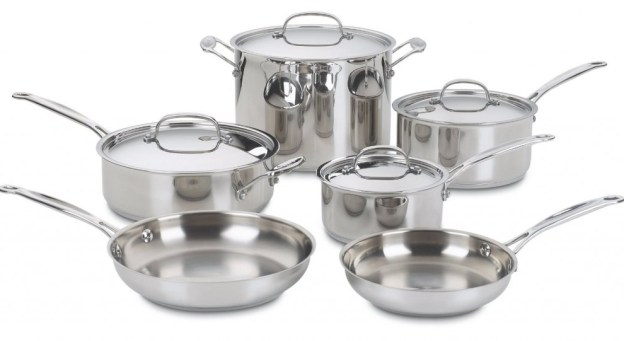 10p Piece Set of Cuisinart Chef's Classic Stainless Cookware