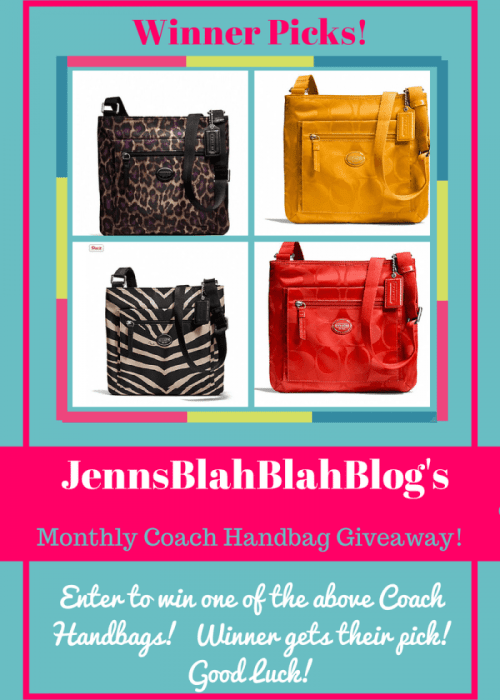 Coach Handbag Giveaway Jenns Blah Blah Blog