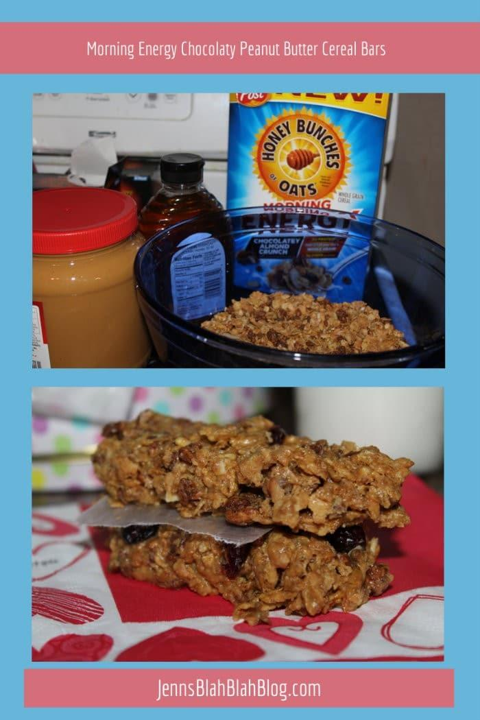 Morning Energy Chocolaty Peanut Butter Cereal Bars Recipe