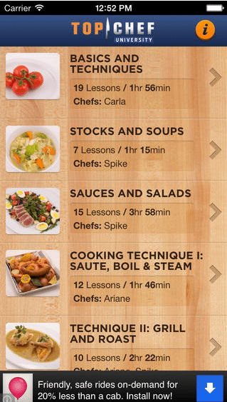 cooking apps for iphone