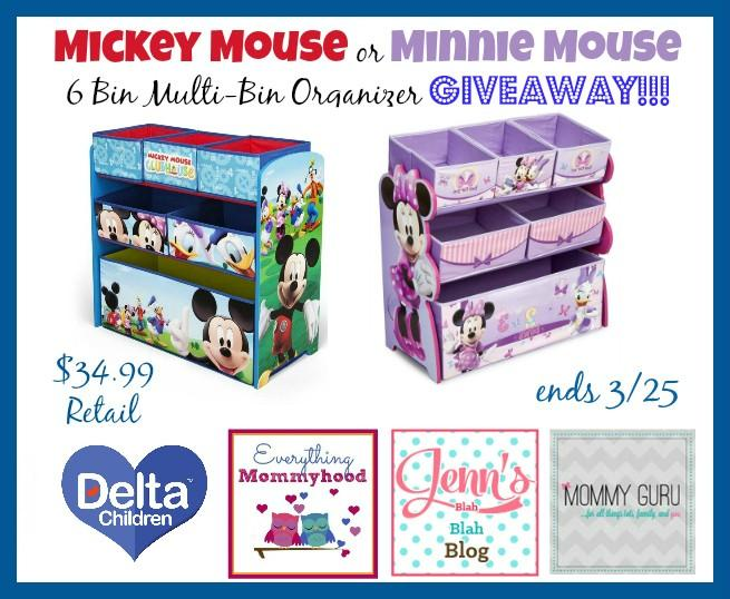 Giveaway Enter To Win Minnie Or Mickey Organizer Jenns Blah